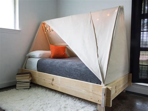 bed with tent how to build a tent bed hgtv