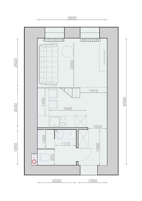 studio apartment plan plans pour am 233 nager et d 233 corer un appartement de 30m2