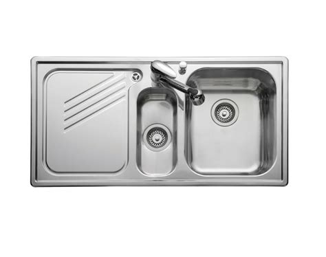 kitchen sinks 1 5 bowl leisure proline pl9852l 1 5 bowl 1th stainless steel inset
