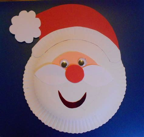 santa paper plate craft may arts and crafts paper plate santa