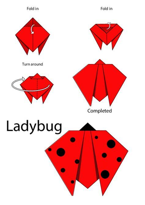 origami patterns easy easy origami ladybug kidspressmagazine