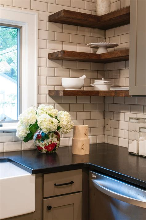 kitchen corner shelves ideas a wide range of interesting subway tile kitchen options for any kitchen designs midcityeast