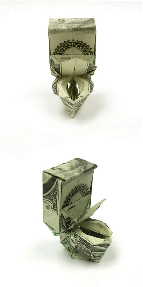 money origami toilet cool money origami pictures cool things collection