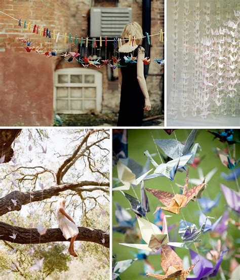 1000 origami cranes wedding hanging paper cranes and more at your wedding green