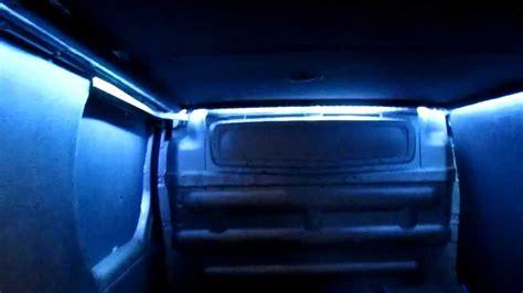 va lights led lighting in back of conversion