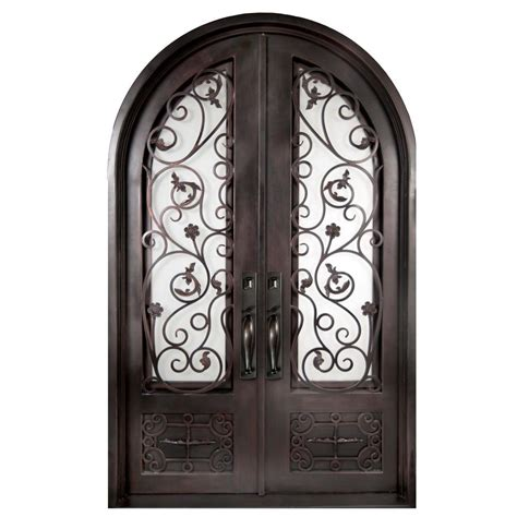 home depot wrought iron paint iron doors unlimited 74 in x 97 5 in fero fiore 3 4 lite