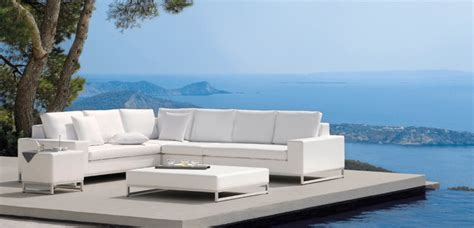 white modern outdoor furniture outdoor white sofa modern patio furniture and