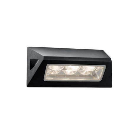 outdoor wall light led searchlight 5513bk led outdoor black glass wall light