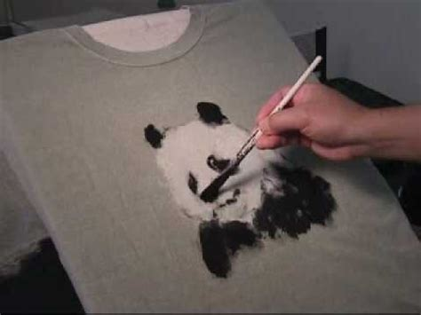 acrylic painting on clothes painting panda on t shirt in acrylic paints