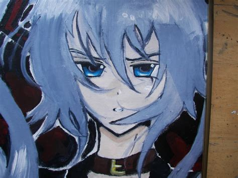 acrylic painting anime hagane miku acrylic painting view 2 by blackxlily on