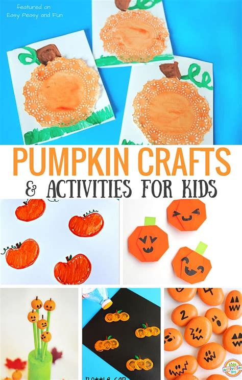 crafts and activities for pumpkin crafts and activities for easy peasy and