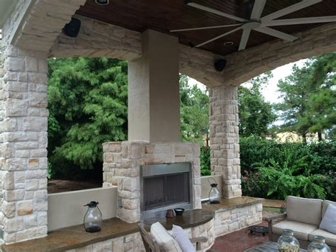 outdoor sitting area fireplace warms up houston outdoor sitting area