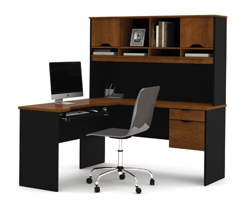 l shaped computer desk bestar innova tuscany brown l shaped computer desk 92420 63