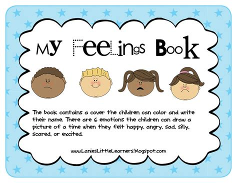my picture book of songs lanie s learners preschool feelings theme