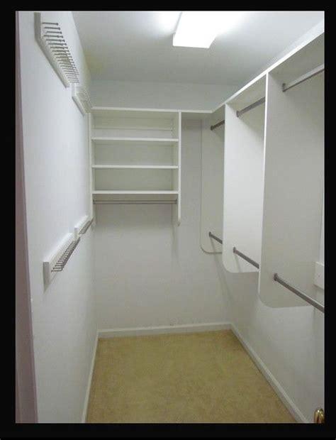 narrow walk in closet best 25 narrow closet ideas on narrow