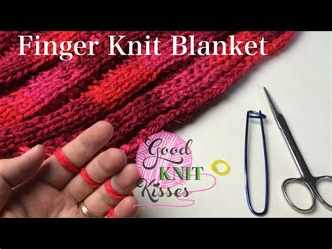 how to finger knit a blanket how to finger crochet funnycat tv