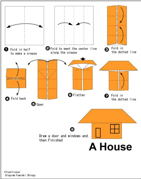 how to make origami house 3d house easy origami for