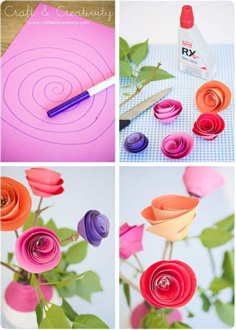 craft paper flowers roses 10 construction paper flowers diy flower craft ideas