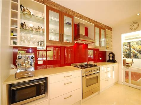line kitchen designs modern single line kitchen design using stainless steel