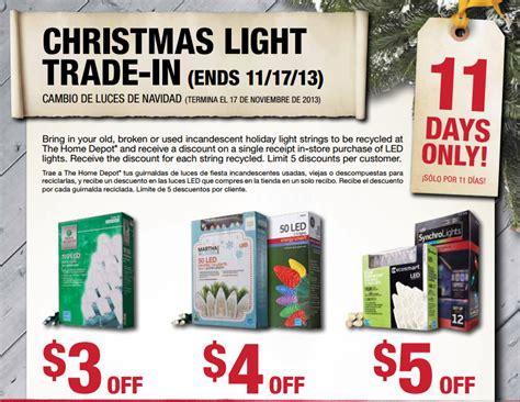 home depot lights exchange home depot light trade in offer my frugal