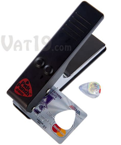 make guitar picks from credit cards punch create your own guitar picks from stuff