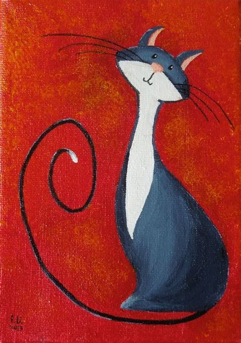 simple cat painting pictures 25 best ideas about easy acrylic paintings on