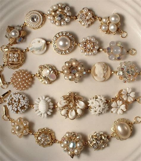 how to make fashion jewelry vintage costume jewelry upcycled repurposed via