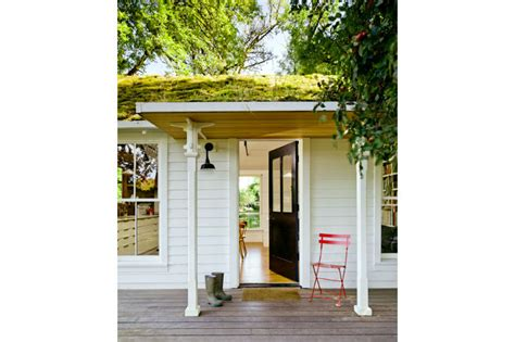 helgerson tiny house lush green roof keeps this tiny cottage home cool in