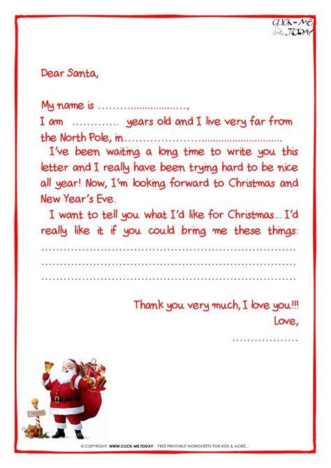 santa for ready letter to santa claus template more text santa