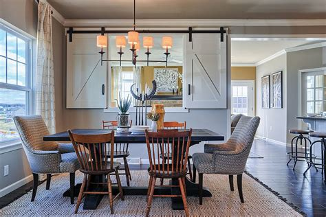 Bright Kitchen Color Ideas 25 diverse dining rooms with sliding barn doors