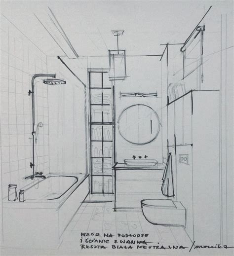 bathroom drawing sketch of the bathroom interior sketches and drawings