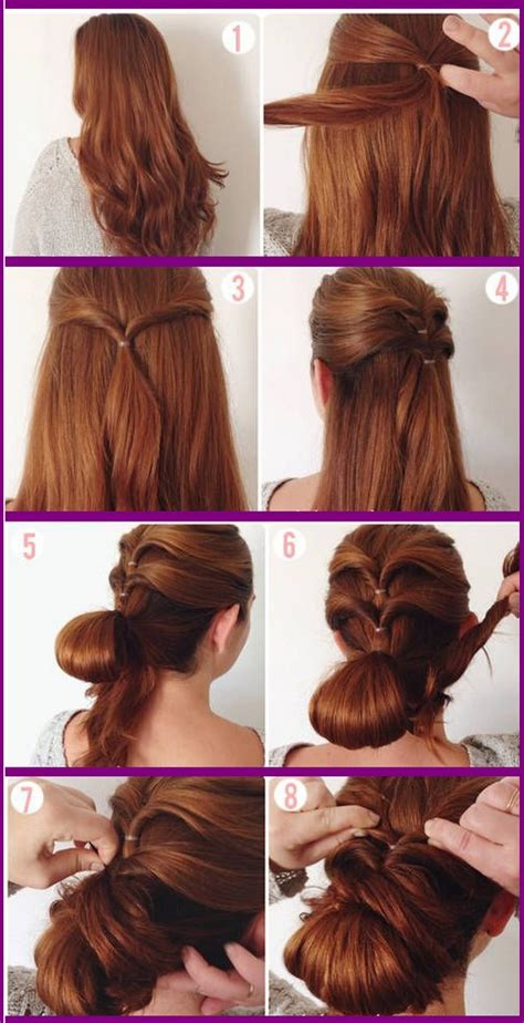 step by step guide to a beauitful hairstyle easy hairstyles step by step instructions www pixshark