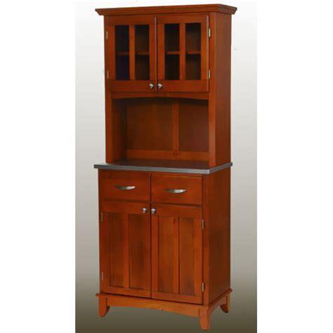 small kitchen hutch cabinets home styles small buffet with two glass door hutch