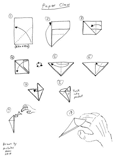 paper claw origami a crisp fold schoolyard origami part 2
