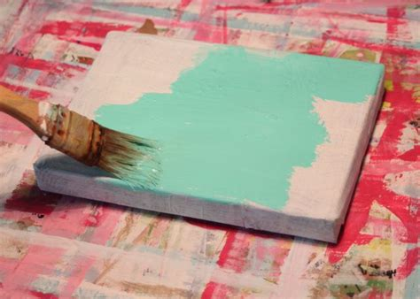 how to distress acrylic paint on canvas distressed folk painting tutorial u create
