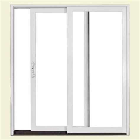 home depot sliding glass patio doors jeld wen 72 in x 80 in w2500 series right sliding