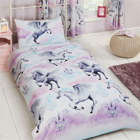unicorn bedding single duvet cover sets boys bedding unicorn