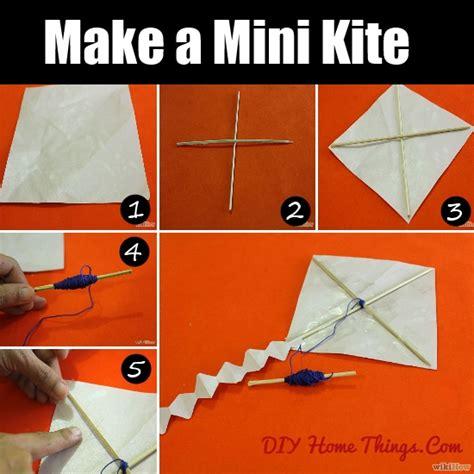 to make at home how to make a mini kite diy home things
