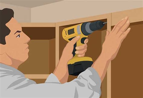 how to install kitchen wall cabinets wall cabinet installation guide at the home depot
