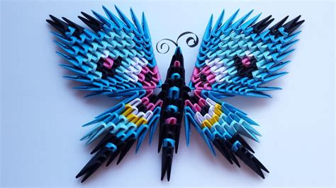 how to make 3d origami butterfly 3d origami butterfly magnet 3