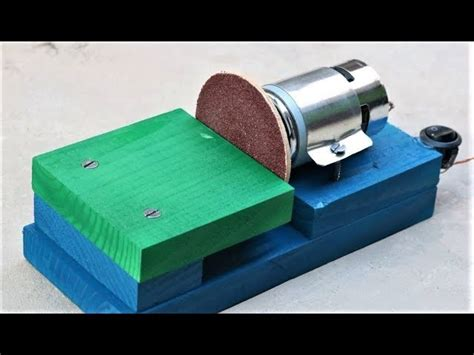 small sander for craft projects how to make a mini disk sander at home easy my
