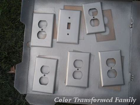 spray painting light switches metals satin and light switches on