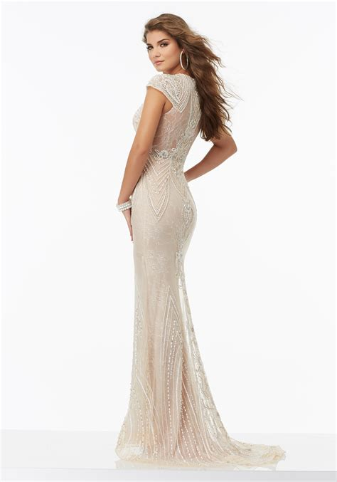fully beaded prom dresses fully beaded prom dress chantilly lace morilee