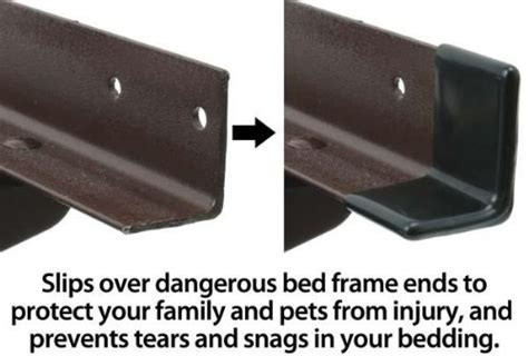 metal bed frame plastic 1 1 4 quot gashguards deluxe rubberized plastic bed frame end