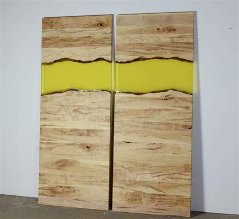 barn door wood custom modern live edge wood and resin barn door by