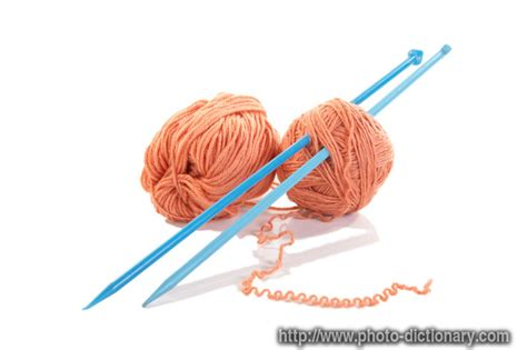 define knit knitting spokes photo picture definition at photo