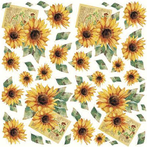 tissue paper decoupage ideas dft01 sunflowers decoupage tissue paper crafts sunflower