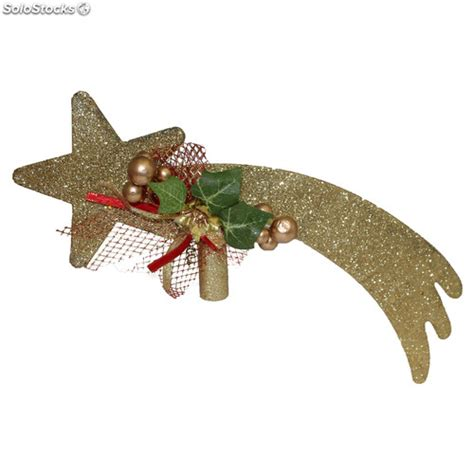 estrella para arbol de navidad estrella fugaz dorada para punta de 225 rbol de navidad 35 cm