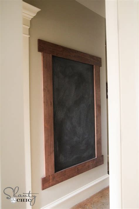 diy chalkboard board diy framed chalkboard wall shanty 2 chic