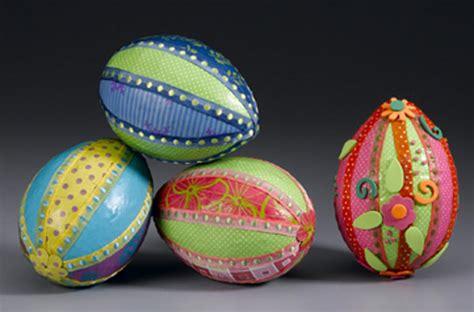 styrofoam egg crafts for paper and ribbon styrofoam easter egg crafts mod podge rocks